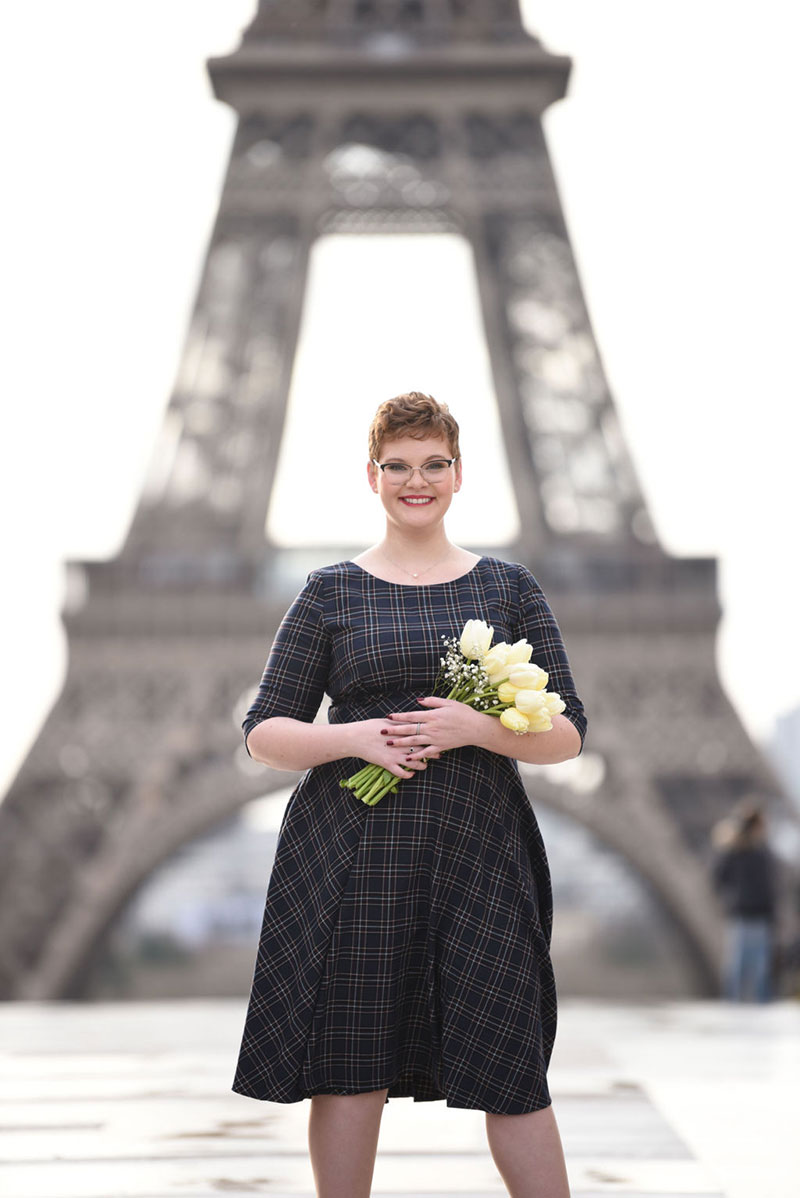 Brooke photographed by Miss Paris Photo in front of Eiffel Tower