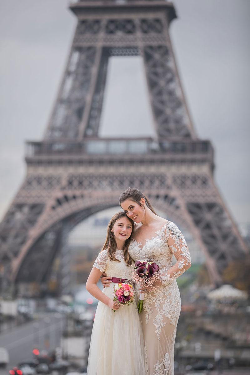 Paris elopement Paris Eiffel Tower Bridal hair Bridal Makeup Paris Intimate ceremony