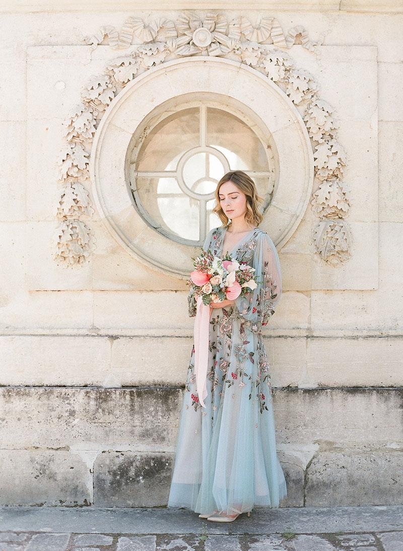 Chateau Wedding Versailles gardens Chic Elegant bride Paris