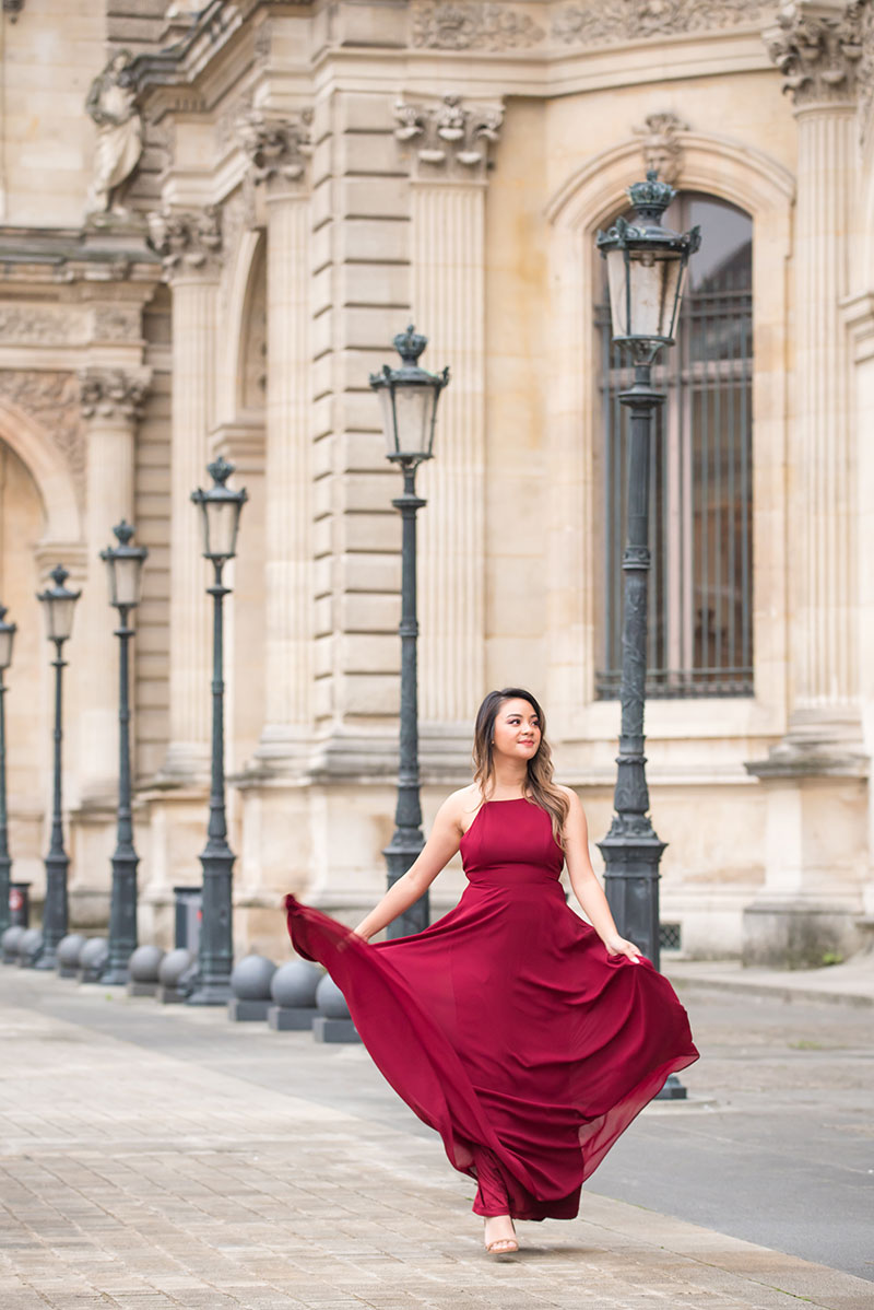 Alanna photographed by The Parisian Photographers for surprise proposal in Paris Engagement