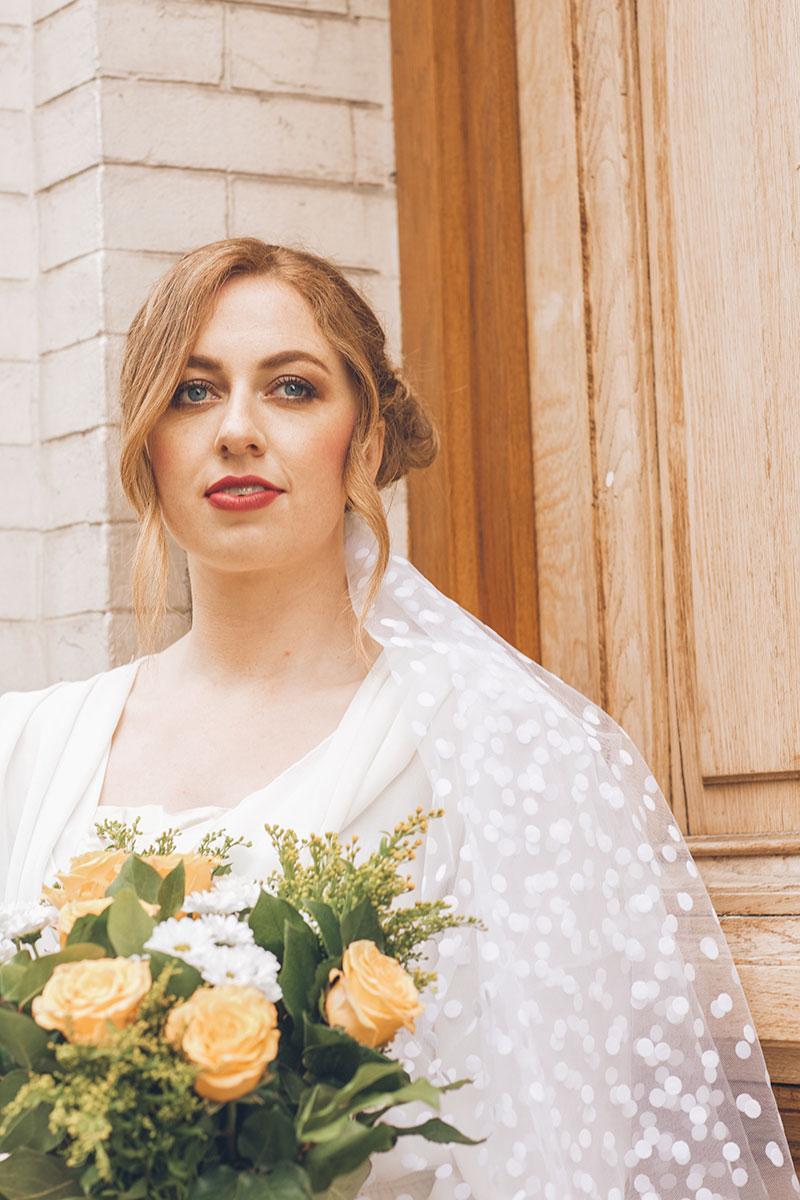 Modern bride Redhead Bridal Makeup
