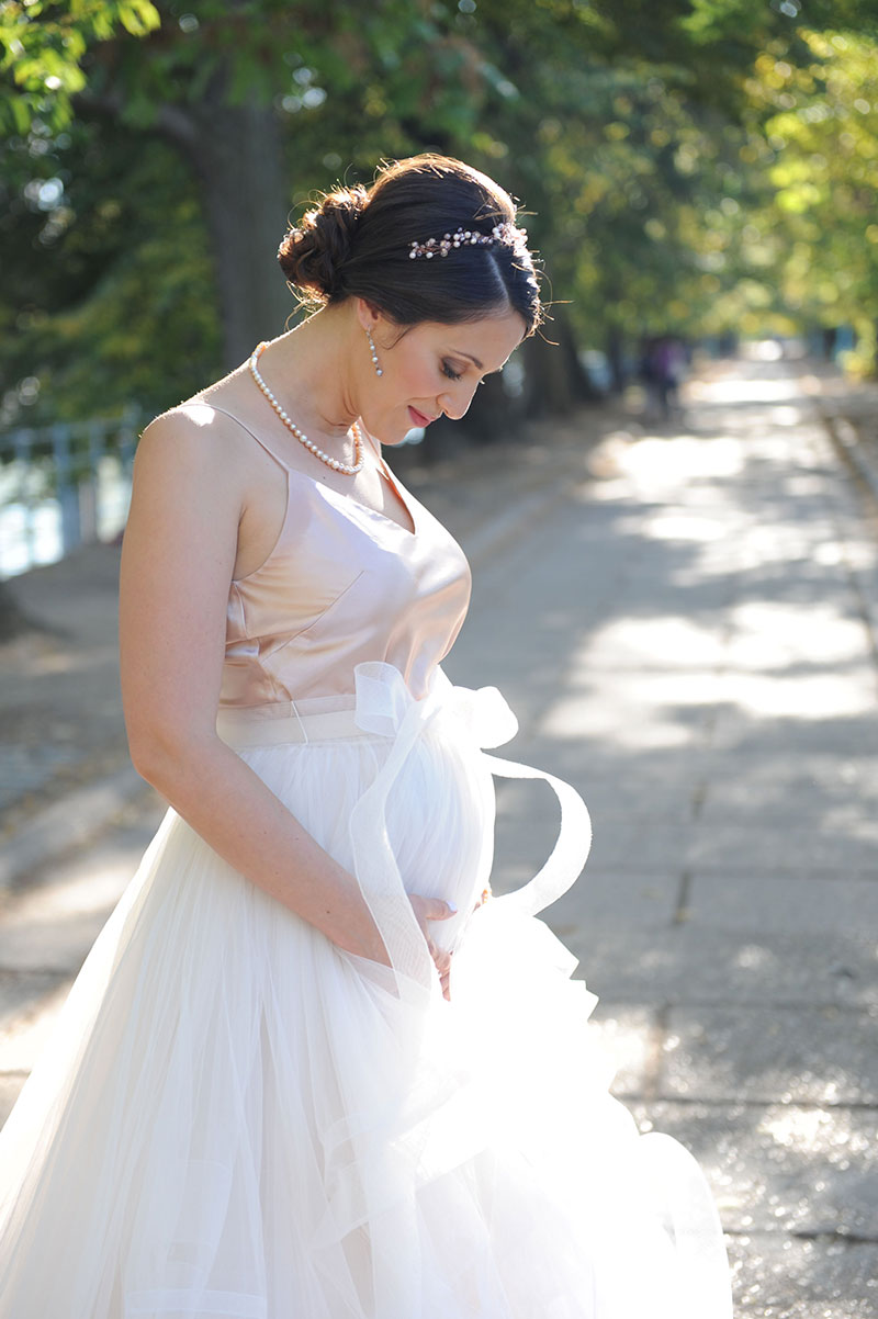 Destination wedding pregnant bride beautiful French wedding Paris