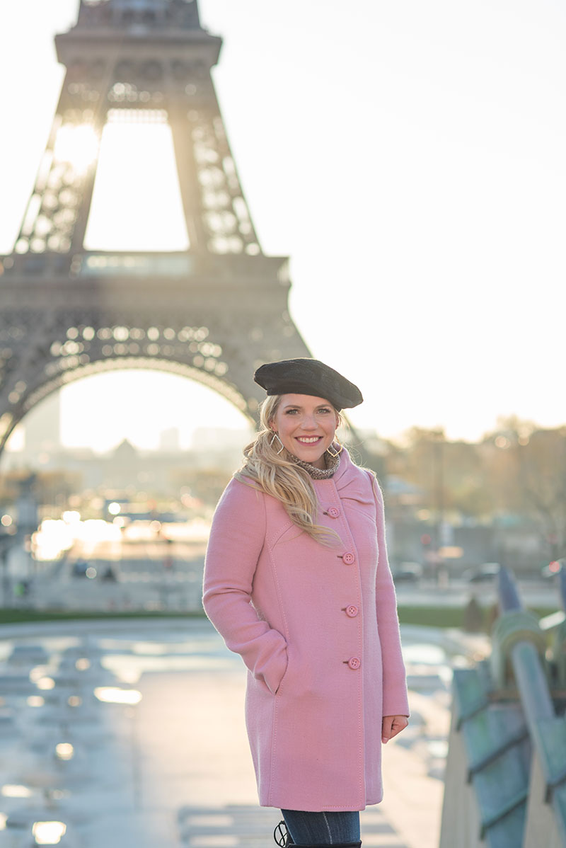 Ashley photographed by The Parisian Photographers Engagement couples photo shoot in Paris