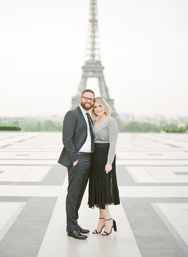 Sara photographed by The Parisian Photographers Engagement couples photo shoot in Paris by Eiffel Tower