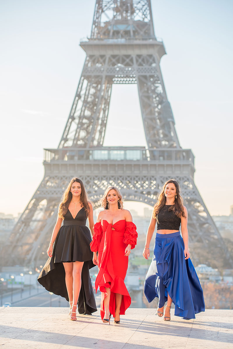 Jackie & Family photographed by The Parisian Photographers Family photo shoot in Paris Quinceanera