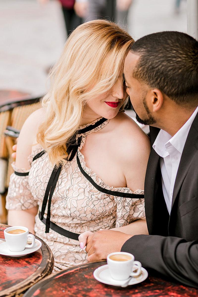 Kelli & Evan photographed by Rachael Laporte Surprise proposal in Paris Engagement photo shoot