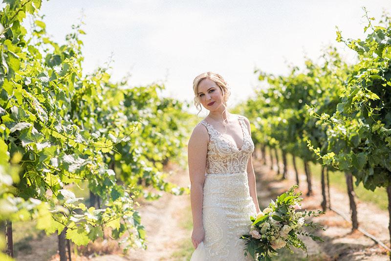 California wedding vineyard wedding wine country Sacramento bride glowing natural bridal makeup