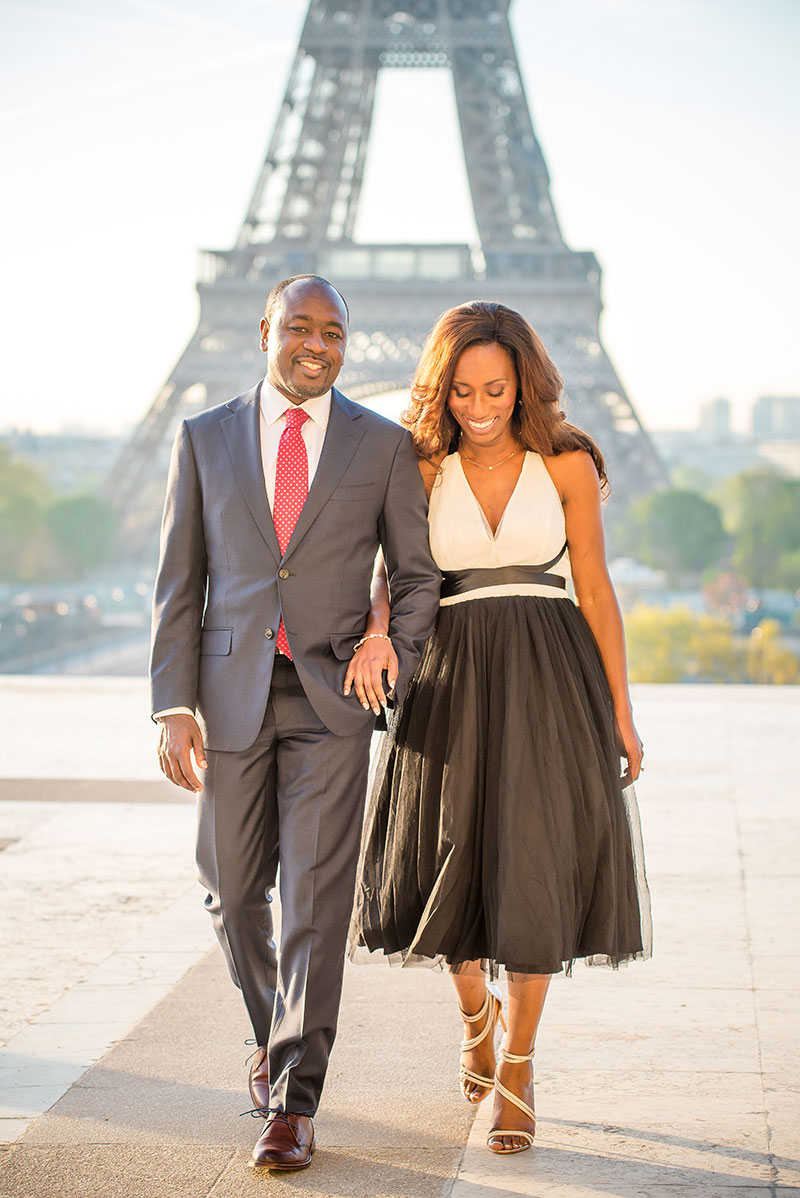Marcel & Aiyana photographed by The parisian photographers Anniversary photo shoot in Paris