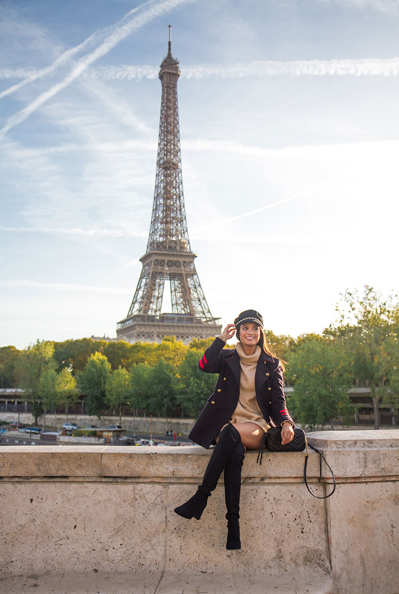 Jime photographed by The Parisian Photographers Solo travel lifestyle photo shoot in Paris Eiffel Tower